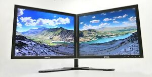 """17"""" DUAL PC MONITOR SCREEN BUNDLE 2 x 17"""" DUAL STAND INCLUDED"""