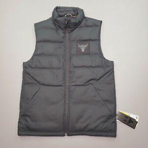 Under Armour Men's Project Rock Black Training Vest 700 Down Filled Size S $150