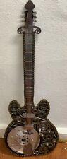 RARE Original Hand-made Scrap Metal Guitar Sculpture recycle parts