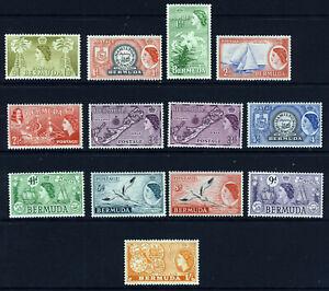 BERMUDA Queen Elizabeth II 1953 - 1962 Definitive Part Set SG 135 to SG 144 MINT