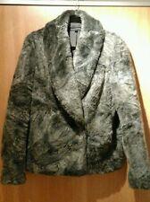 Faux Fur Popper Hip Length Formal Coats & Jackets for Women