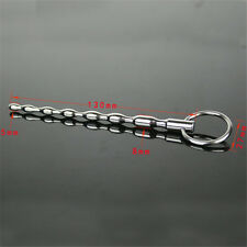 BEGINNER STAINLESS MALE URETHRAL SOUNDS PENIS PLUG BEADS SOLID DILATOR STRETCHER