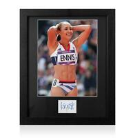 Jessica Ennis-Hill Signed 2012 London Olympics Card and Photo Frame: Option 1