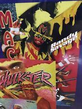 New Sealed WCW WWE WWF Wrestling Poster Vintage 1995 Macho Man Randy Savage  L1