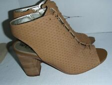 b61f7e6c47996 SAM EDELMAN Wmns Ennette Lace Up Leather - zip Bootie light brown 8