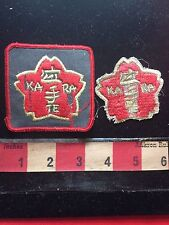 Vintage KARATE Patch Lot - AS-IS ... BOTH IN ROUGH CONDITION!!! 76YJ