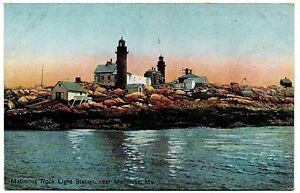 Matinicus Rock Light Station Maine Vintage Postcard H.C. Leighton Germany 28031