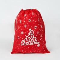 1 Red Felt Father Christmas Santa Sack Stocking Socks Gifts Bag Xmas Accessories