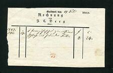 """Württ. - """"Gaildorf"""" alte Rechnung von 1844   (D)"""