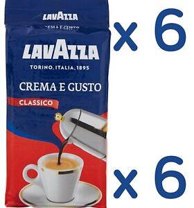 6 x 250g LAVAZZA CREMA E GUSTO Coffee ground Italian espresso caffè