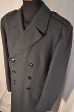Vintage 1960's Swedish Military blue wool overcoat size C 50 large high quality