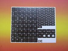 Tastaturaufkleber für Notebook Deutsch schwarz 11,5mm x 11,5mm QWERTZ
