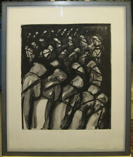 Michael Mazur Dramatic Etching of Dante's Inferno Important Listed Boston Artist