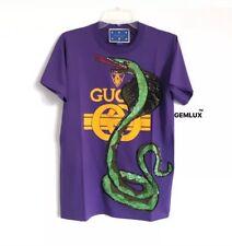 GUCCI x ELTON JOHN Snake Sequin Embroidred Purple T-Shirt Size XL RRP £860