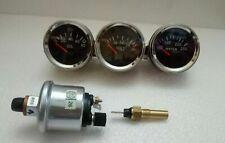 electrical gauges set- Volt gauge Temp Gauge Oil pressure gauge with SENDER