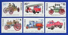 Z70 POLAND 1985 Fire Engines, Automobiles, stamp set of 6 Mint NH