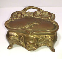 Vintage Antique Daisy Flower 1023 Art Nouveau  Jewelry Trinket Box