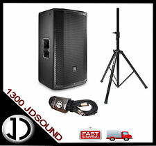 "1X JBL PRX815W 15"" powered speaker+ LIFT ASSIST speaker stand and cable"