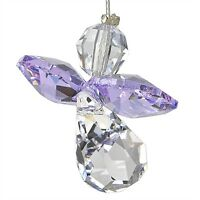 Austrian Chrystal Guardian Angel Birthstone Suncather Light Amethyst JUNE CGLA