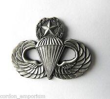 US ARMY PARA MASTER JUMP WINGS LAPEL PIN BADGE 1.5 INCHES