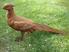 beau faisan en fonte , oiseau , belle déco exté ou inté, chasse