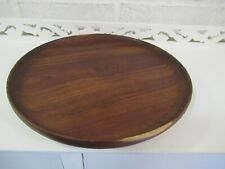 Solid wood dark wood plate, decorative plate, fruit plate, wood tray