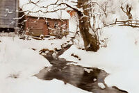 Beautiful art Oil painting Frits Thaulow - winter on the isle of stord canvas
