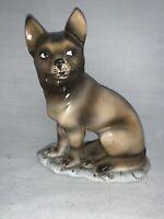 Antique Germany German Shepherd Dog Decanter/Flask, Porcelain
