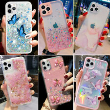 For iPhone 12 Pro Max 11 XR XS MAX 7 8 Glitter Shockproof Bling Girls Case Cover