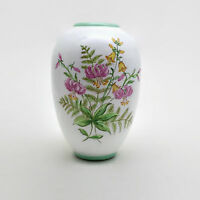 Handpainted Austrian Ceramic Vase Signed Mondsee