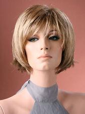 Ladies Full Wig Short Wig Bob Neck Hugging Dark Blonde Natural Look Fashion Wig