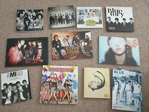 Kpop albums Super Junior, SHINee, CNBlue, Wonder Girls, Infinite, f(x)