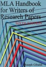 MLA Handbook for Writers of Research Papers by Joseph Gibaldi (2003, Hardcover,