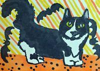 Munchkin Halloween 8 x 10 Cat Art Giclee Print Collectible Signed Artist KSams