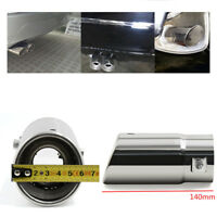 Stainless Steel - Bevel Car Exhaust Pipe Tip Muffler Trim Tail Tube Universal