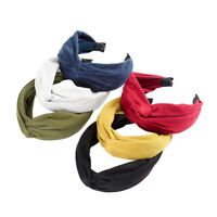 Ladies Knot Hairband Headband Tie Wide Side Alice Hair Band Accessories Fabric