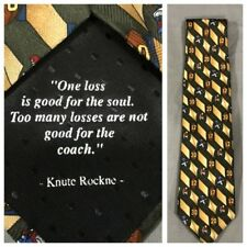 "Notre Dame Football Knute Rockne Quote Tie Silk Green Tan Quote Me Tie 58"""