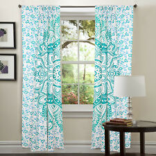 Mandala Floral Printed Mandala Curtains Bohemian Decor Panel Room Divider Set