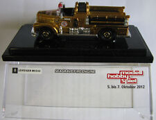 Matchbox German Special Seagrave Fire Engine Leipzig Toy Show 2012 Crystal Case