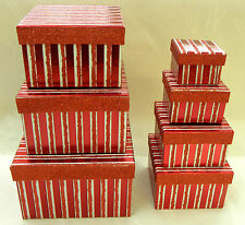 7er Set Geschenk Karton Mit GLITZER Stapelbox Geschenkbox WUNDERSCHÖN NEU