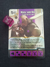 Dungeons and Dragons Dice Masters - Minsc and Boo Promo card and Dice