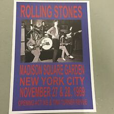 ROLLING STONES - CONCERT POSTER M.S.G. NEW YORK 27TH 28TH NOVEMBER 1969 (A3 SIZE