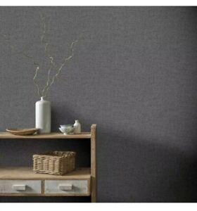 2 Rolls Arthouse Herringbone Texture Stripe Faux Fabric Paper Wallpaper {906701}