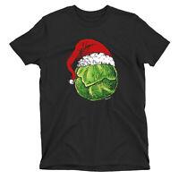 Santa SPROUT Funny CHRISTMAS T-Shirt Mens Womens Organic Unisex Vegetarian Vegan