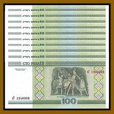 Belarus 100 Rubles (Rublei) x 10 Pcs, 2000 P-26 Ballet Dance Unc
