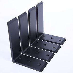 """4 Heavy Duty Black Steel 6""""x8"""" Countertop Support Brackets Mantel Shelf L Corbel"""