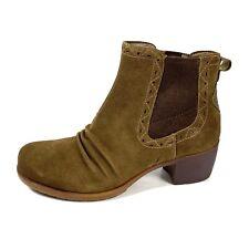 Earth Denali Aspect Ankle Boots  Dark Khaki Suede Western Size 8 M New