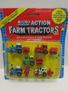 VINTAGE 1989 FUNRISE MICRO ACTION FARM TRACTORS MICRO MACHINES SET ***MOC***