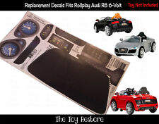 The Toy Restore Replacement Stickers Fits Rollplay Audi R8 Spyder 6V Battery Set
