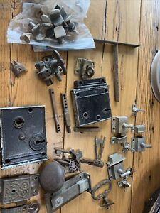 Antique Lock lot Door Knobs  art deco victorian lot